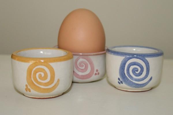 Eierbecher Spirale, 3-er Set