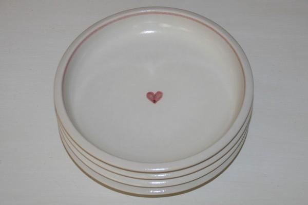 Pastateller, Herz rot