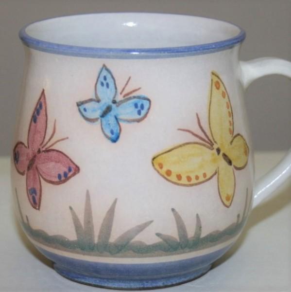Kindertasse A, Schmetterling