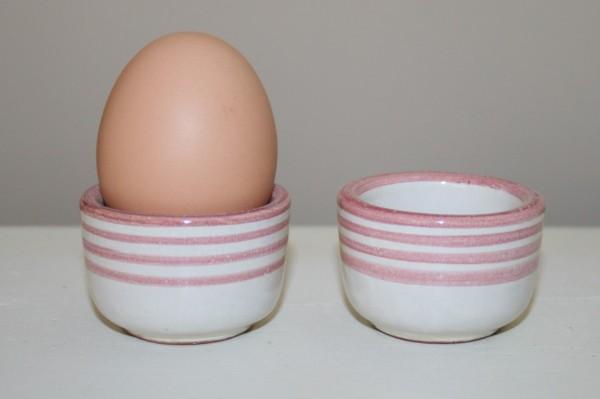 Eierbecher rot Streifen, 2er Set