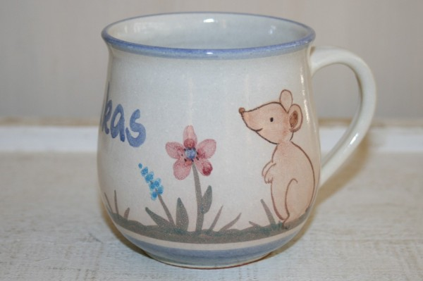 Kindertasse Maus, mit Namen