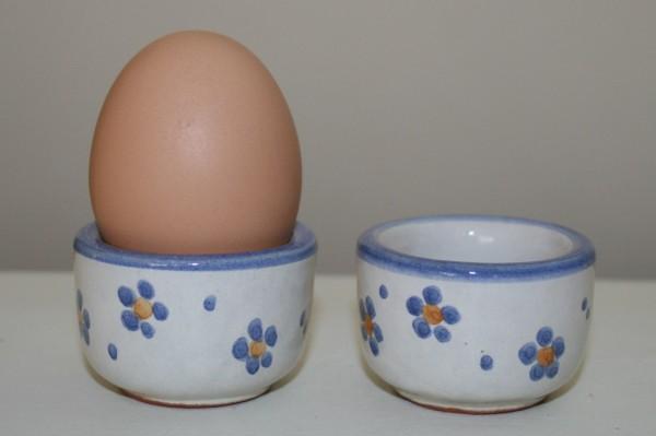 Eiebecher blau Blume, 2er Set