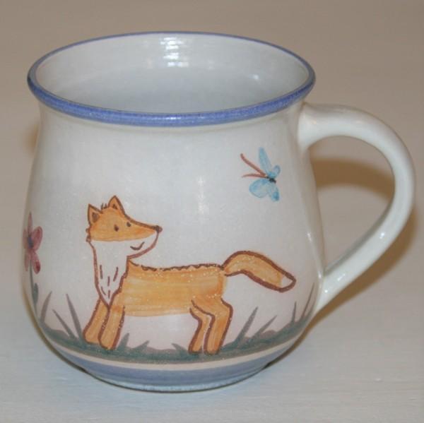 Kindertasse, mit Fuchs